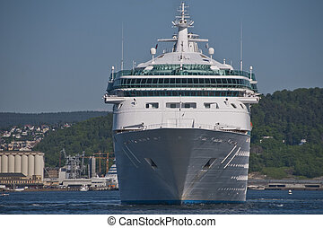 Cruise Ship in the port of Oslo, Norway