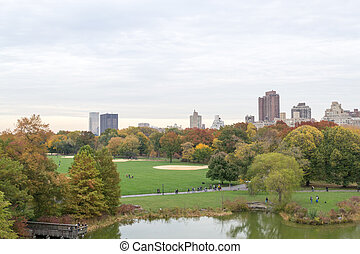Autumn colors from the Belvedere castle - The great lawn...