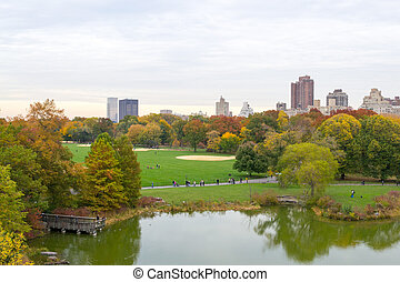 Baseball diamonds at eh great lawn of Central Park - The...