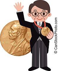 Winner of the medal - Vector illustration.