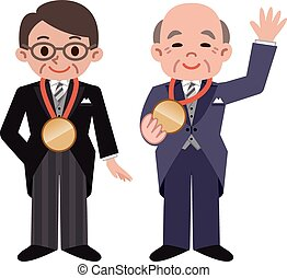 Winner of the medal - Vector illustration.