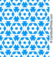 Abstract geometric vector pattern in blue color. Elegant...