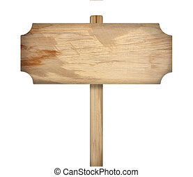 木製である, 背景, 白, 隔離された, 印