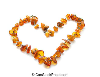 Amber Necklace on white