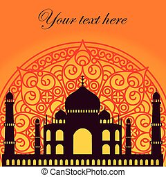 tajeps - vector card with Taj Mahal