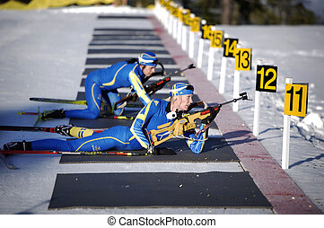 Biathlon - swedish Biathlon team training for the 2010...