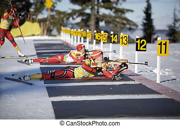 Biathlon - chinese biathlon team training for the 2010...