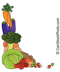 Vegetable Border - A grouping of vegetables as a frame or...