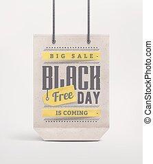 Black Friday - Sale bag, black friday, eps 10