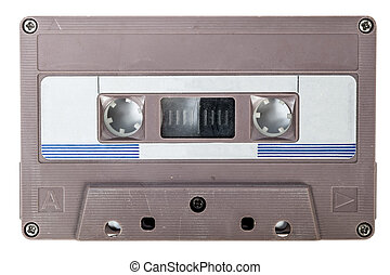 tape cassette audio vintage isolated