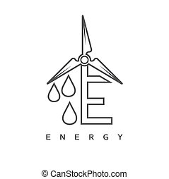 Illustration of concept alternative energy