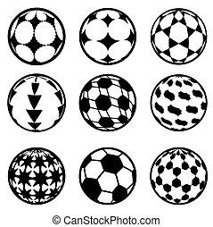 futebol, jogo, futebol, Bolas