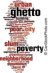 Ghetto-vertical Convertedeps - Ghetto word cloud concept...