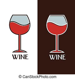 wine glass vector design template