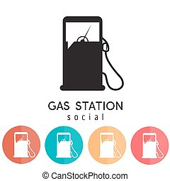 gas station social vector design template