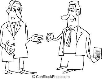 negócio, negociações, Ilustração