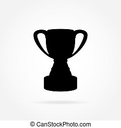 Cup champion icon vector