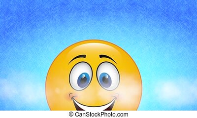 Happy face, video animation - Happy face deign, video...