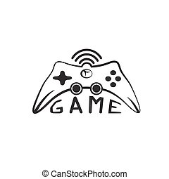 Illustration of Game pad Icon Vector Symbol
