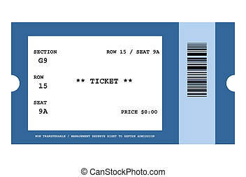 Event ticket - Illustration of ticket for event with bar...