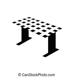 table black and white vector