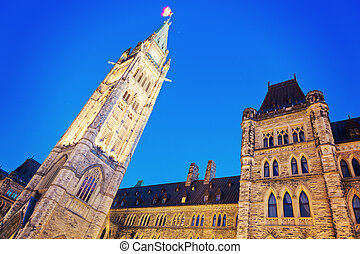 Canada Parliament Building at sunrise - Canada Parliament...