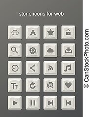 Stone icons for web
