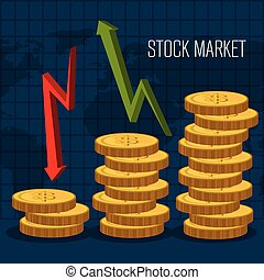 Stock market with statistics graphic design, vector...