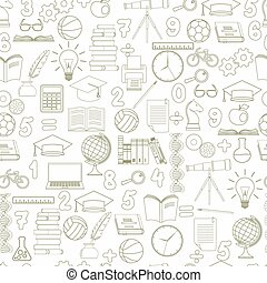 Education seamless background - vector