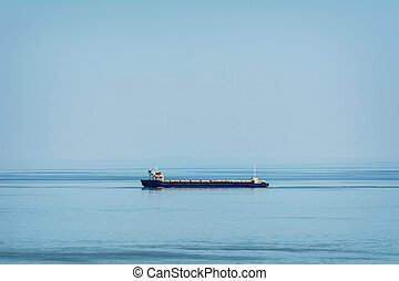 Ro-Ro Cargo Ship in the Black Sea