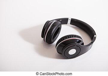 noise cancellation headphones - headphones on white...