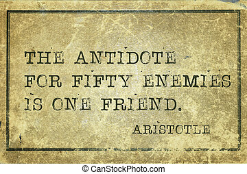 enemies print - the antidote for fifty enemies - ancient...