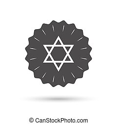 Star of David sign icon Symbol of Israel - Vintage emblem...