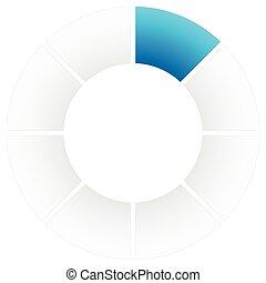 Preloader or buffer symbol, segment circle, circular...