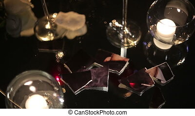 Evening Still Life - Evening still life with wineglasses,...