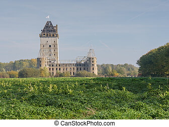 Modern ruin of castle Almere - The abandoned and unfinished...