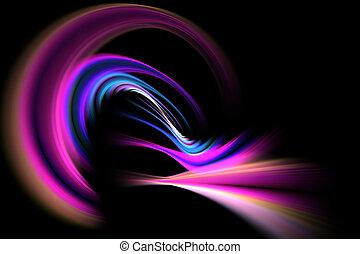 Abstract Fractal Vortex - A glowing fractal vortex that...