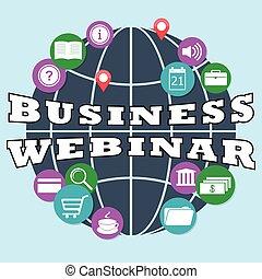 business webinar - Flat design modern illustration concept...