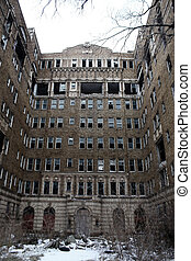 abandoned apartment building