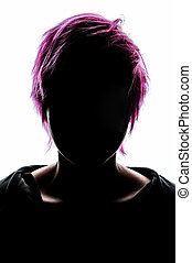 girl silhouette fashion hair pink