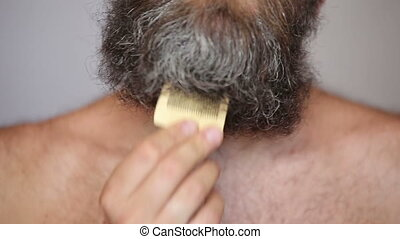 Lush Beard and Mustache - White Man Taking Care of his Lush...