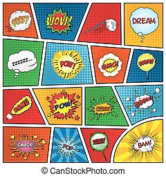 Set of comic sound effects