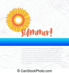 Sun wave illlustration - Vector geometric illustration with...