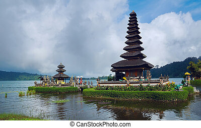 Ancient temple at coast of Bali