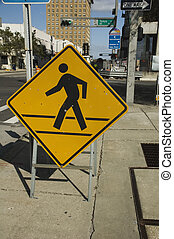 Pedestrian Walk Sign