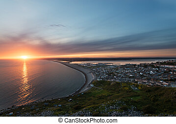 Chesil beach Sunset