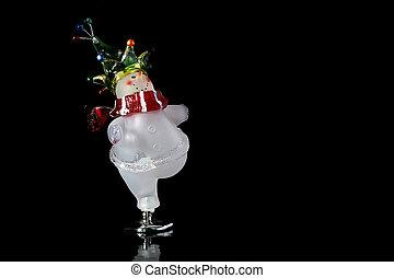 Snowman skates - The glass cheerful snowman skates, a...