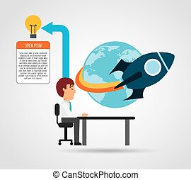 financial start up design, vector illustration eps10 graphic...