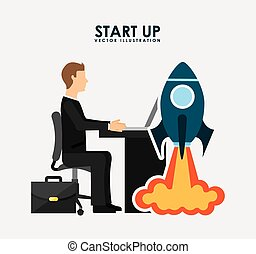 start up concept design, vector illustration eps10 graphic