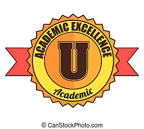 Academic education and elearning graphic design, vector...